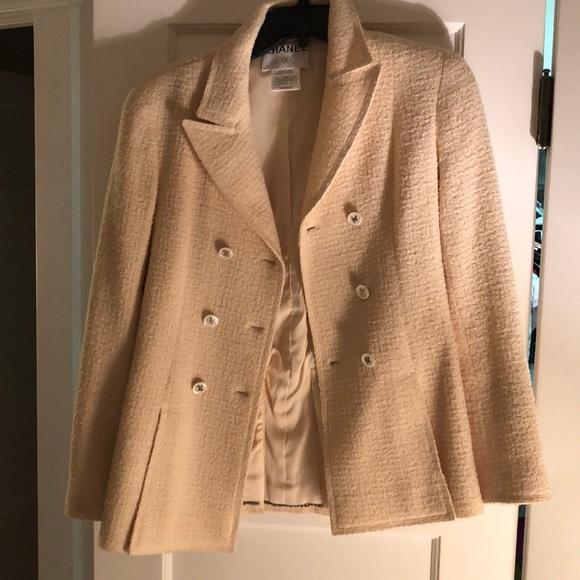 5be27ba0a6c8 CHANEL Jackets & Coats | Vintage Cream Tweed Jacket | Poshmark